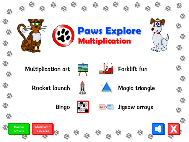 Paws Explore: Multiplication